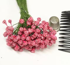 Bunch of 50 Pink Textured 4mm Flower making Peps